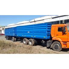 Бортовой автопоезд зерновоз Камаз 65115,  объем 63 куб.м