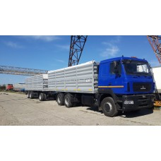 Бортовой автомобиль зерновоз МАЗ 6312C9, объем 34 куб.м